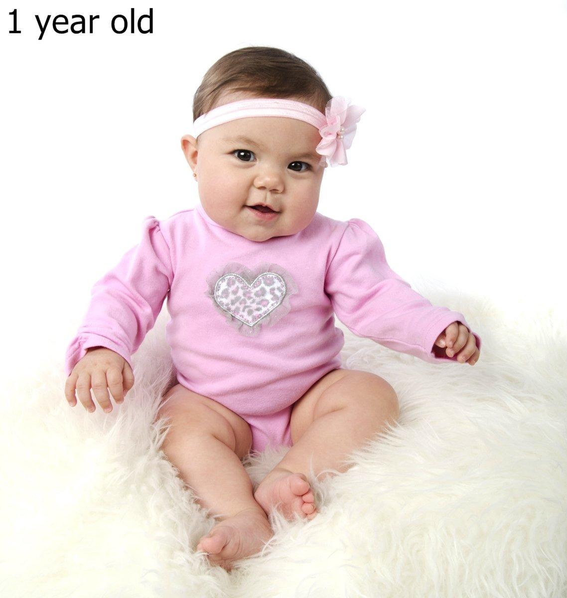 Fionas Hot Pink Ruffled Baby Girl Leggings and Headband Gift Set