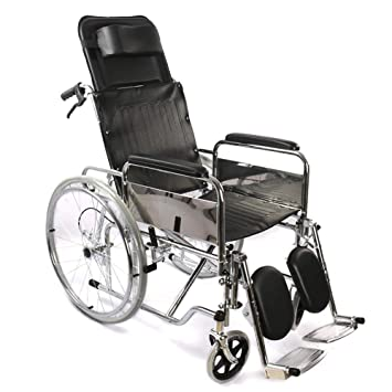 Amazon.com: HSRG - Silla de ruedas plegable, reclinable ...