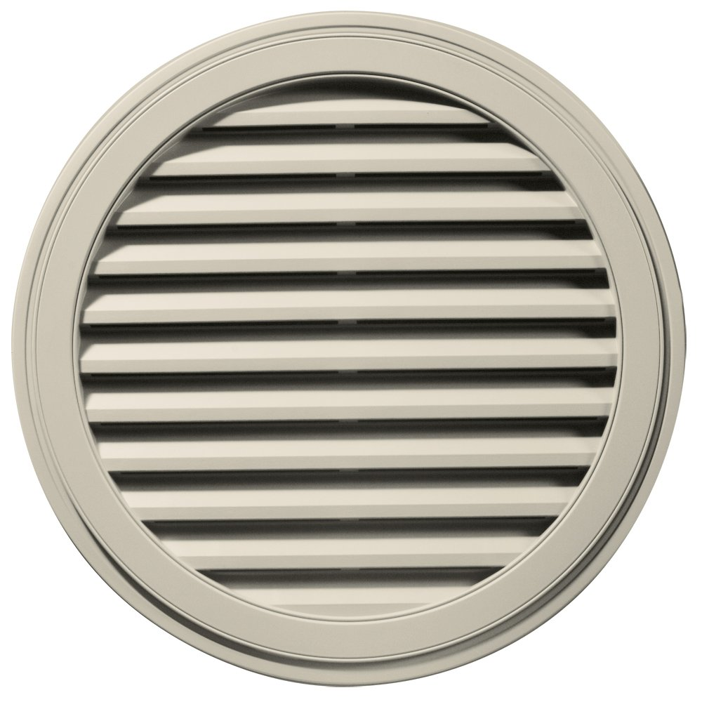 Builders Edge 120033636089 36'' Round Vent 089, Champagne