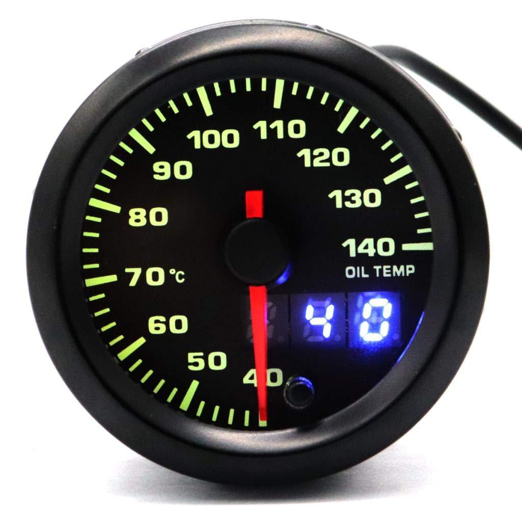 KESOTO 12V 40-140C Medidor de Temperatura de Aceite para Coche Veh/ículo Oil Temp Gauge
