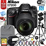 Nikon D7200 DX-format DSLR Camera with 18-140mm ED VR Zoom Lens Nikon SB-300 Speedlight Flash and Sandisk 128GB SDXC Memory and Pro Accessory Bundle
