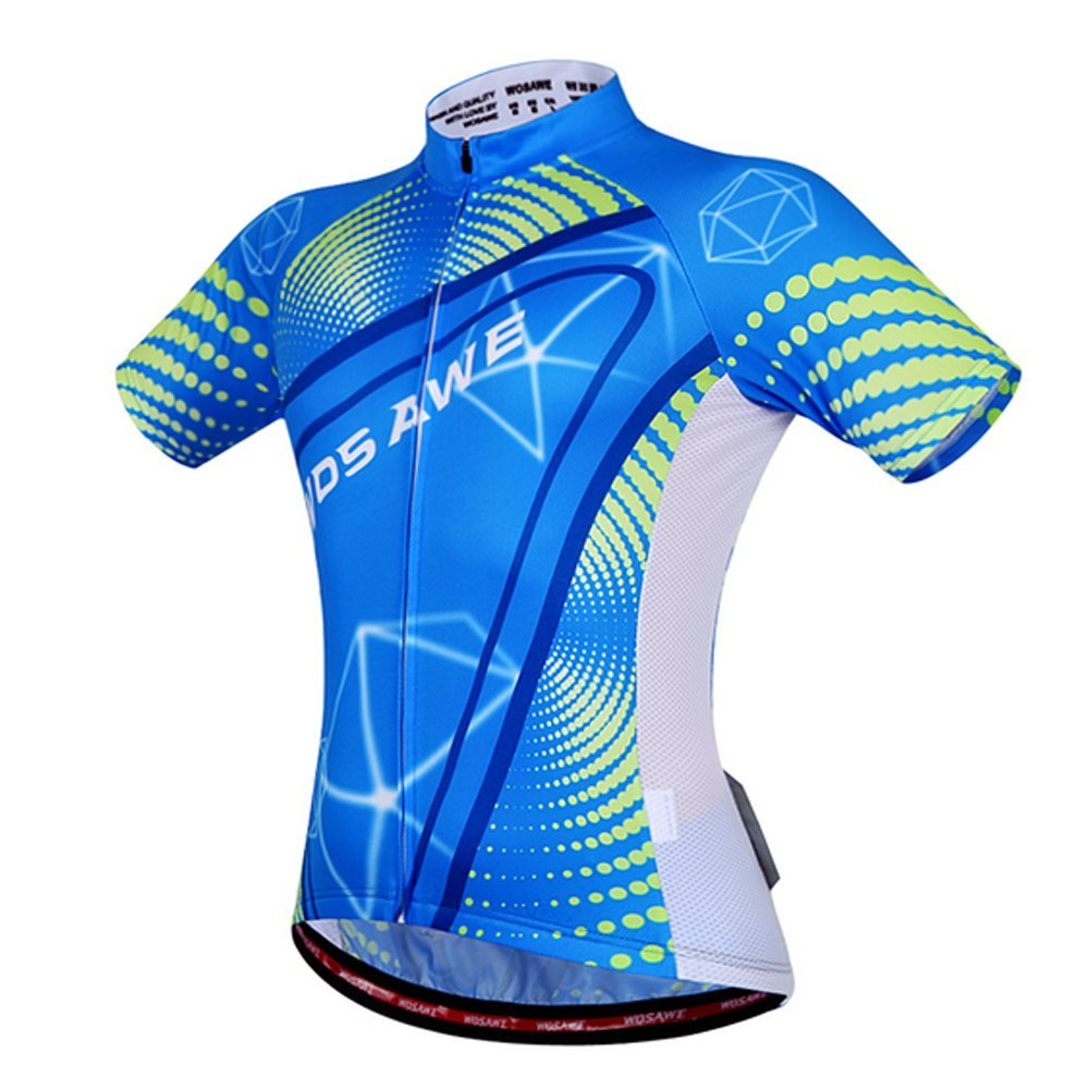 2016 Wosawe Team Cycling Jerseys Men Blue Shirts And 3D Padded Bicycle Sportswear Breathable Quick Dry Shorts Sleeve Suit Summer Wosawe Cycling Jersey