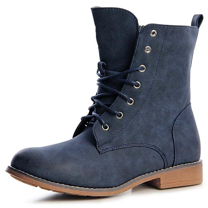 topschuhe24 1237 Damen Worker Boots Stiefeletten Schnürer: Amazon.de:  Schuhe & Handtaschen