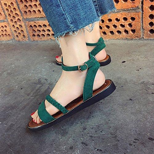 los Comodidad Plano Ocio Playa la Calzan del black YMFIE de del la Las Antideslizantes Fondo de del Verano pie Zapatos Sandalias del la de Dedo del Moda qwvZq4A8