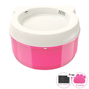 shanzhizui Bebedero automático para perros Dispensador de agua gato eléctrico Recipiente silencioso con filtro de asa