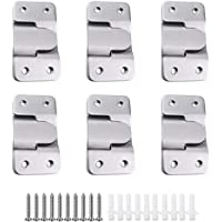 MZMing 6 Pairs [12 Pack] Flush Concealed Mount Bracket Interlocking Hang Buckle Headboard Furniture Connector Stainless…
