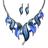 Ginasy Vintage Statement Necklace and Earrings Set - Fashion Chunky Jewelry for Women