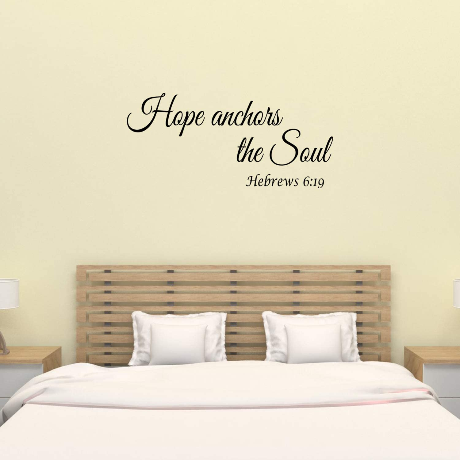 Wall Decal Quote Hebrews 6:19 Hope Anchors The Soul Bible Verse Wall Decal Decor Sign
