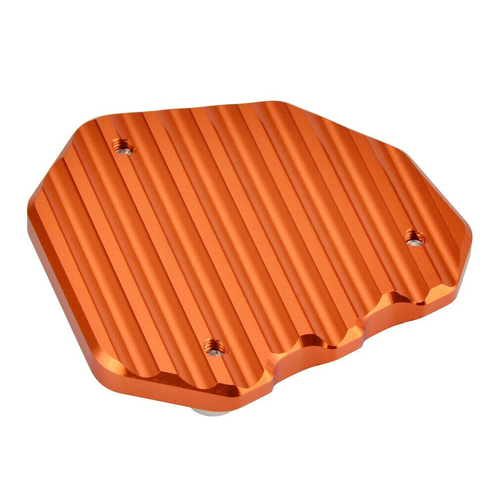 Easygo Replacement For KTM 790 DUKE 2018-2019 Motorcycle Kickstand Side Stand Pad Extension Plate Orange