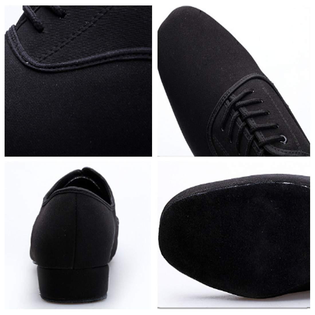 DAIYO Mens Ballroom Dance Modern Dance Shoes Adult Lacing Low Heeled Casual Shoes
