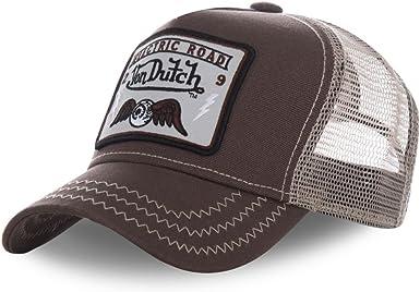 Von Dutch - Gorra de béisbol con diseño Cuadrado marrón Talla ...