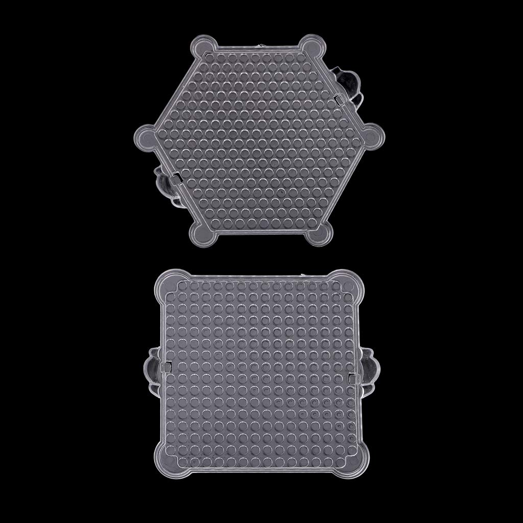 Hexagon Prettyia 10 Pieces Clear Transparent Water Fuse Beads Boards for DIY Crafts Supplies Educational Toys