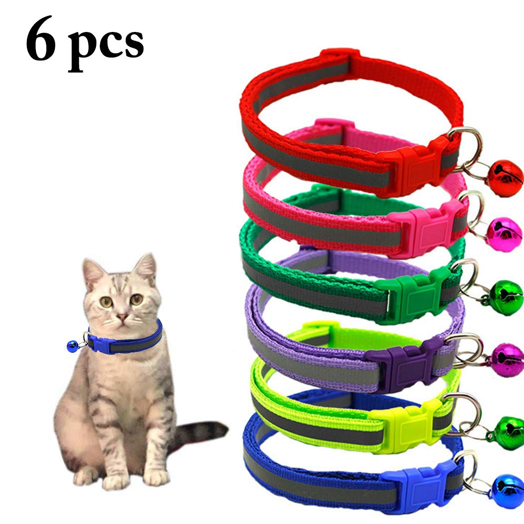 Bangcool Collar para Gato, 5 Unidades de Collar Reflectante ...