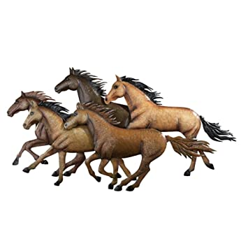 Amazon.com: Rustic Southwestern Running Horses Wall Art: Home & Kitchen