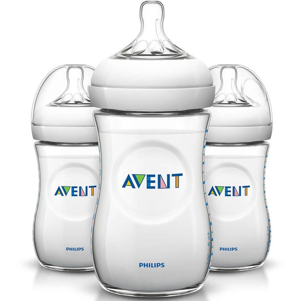 Philips Avent Natural Baby Bottle (Pack of 3) by PHILIPS