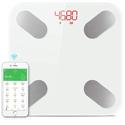 Amazon.com: 2019 Hot Smart Bathroom Weight Scale Floor Household Human Body Fat Mi Scale bmi Digital Weighing Scales Bluetooth Weegschaal,White: Health ...