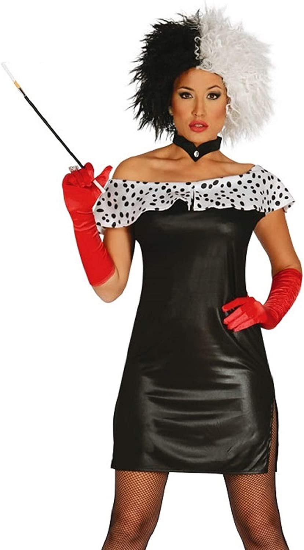 Ladies Sexy mal dálmata villano de película Halloween disfraz ...