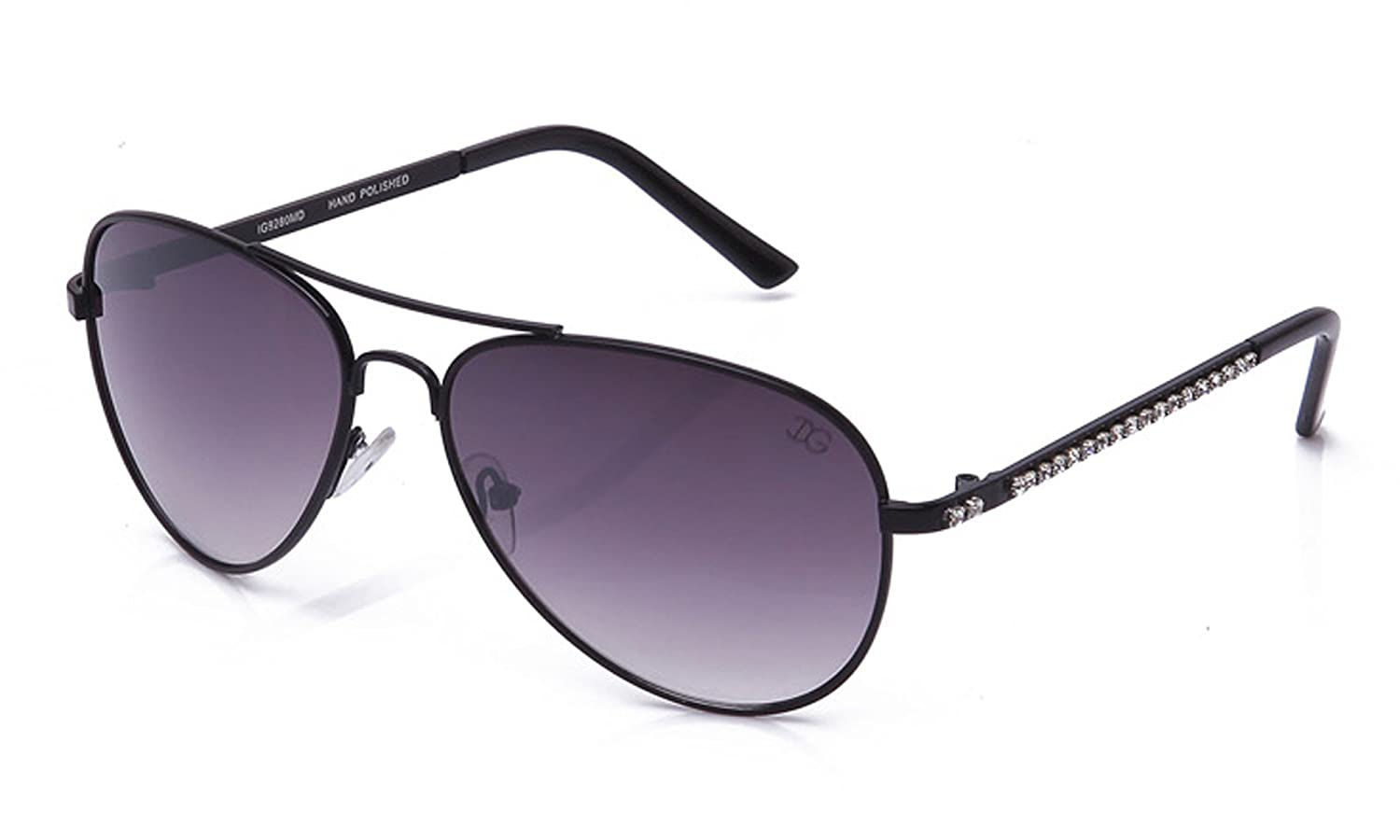 Aviator Oversized Temple Design UV Protection Pilot Style with Rhinestones Bling for Women