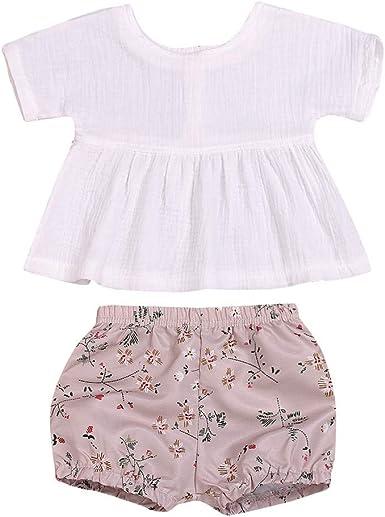 0-18 Meses, SO-buts Niños Pequeños Para Bebés Verano Cómoda Camisa De Lino Tops Pantalones Cortos Con Estampado Floral Conjuntos Conjuntos Trajes: Amazon.es: Ropa y accesorios