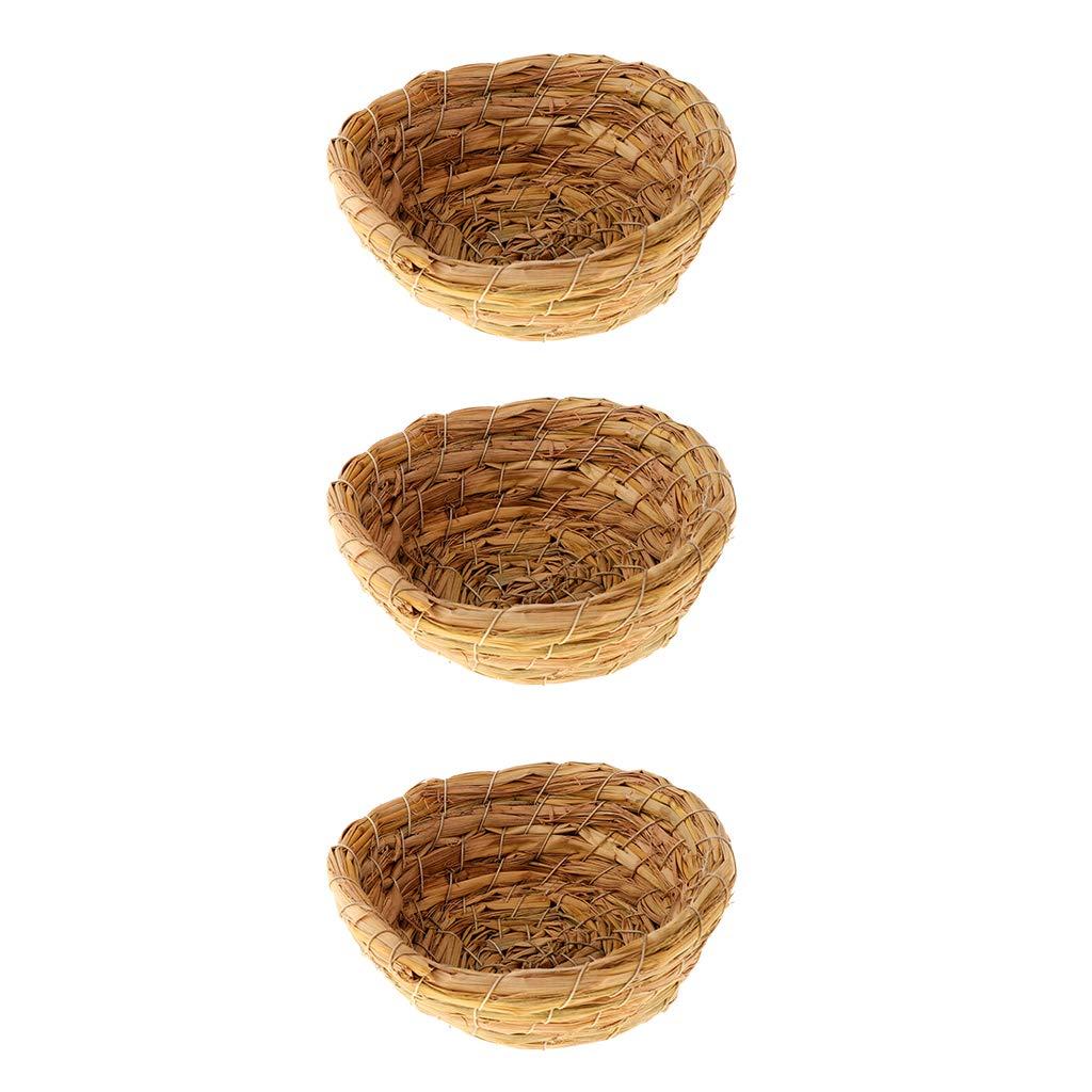 Jaula de jard/ín de Madera Natural con Colgante de Nido de p/ájaros BASSK