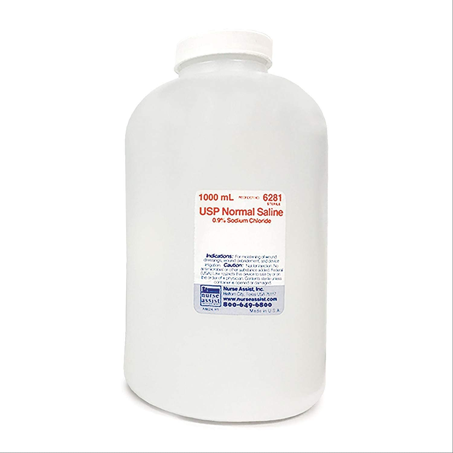 Sterile 0.9% Saline Solution - 1000mL