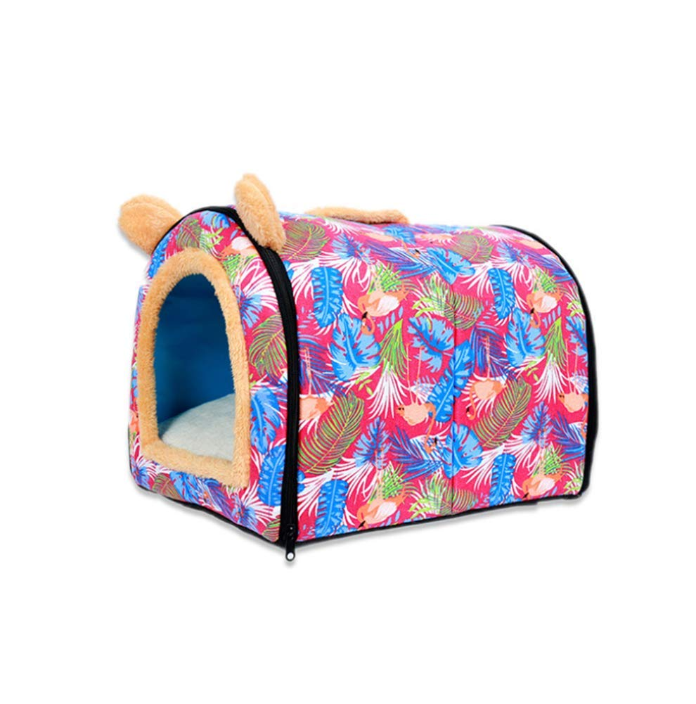 1 Small 1 Small Dog Houses Beds Cat Filled with PP Cotton Material Foldable Chair for Indoor Use Collapsible Washable Puppy,1,S