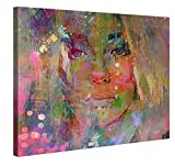 Canvas Print Wall Art – Thoughtful Girl – 100x75cm Stretched Canvas Framed On A Wooden Frame – Contemporary Art Canvas Printing – Hanging Wall Deco Picture By Gallery Of Innovative Art
