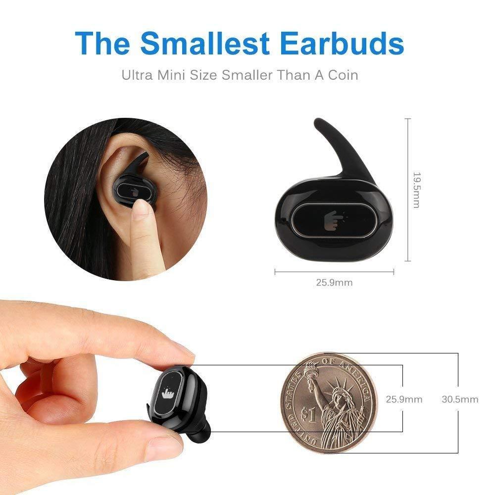 Mbuynow Écouteurs sans Fil 2 Oreillette Bluetooth avec Microphone Stereo Design Ergonomique et Anti-Bruit Kit Mains Libre pour Samsung iPhone 6 7 8 X Sony iPad Tablette et D'Autre Bluetooth Appareil