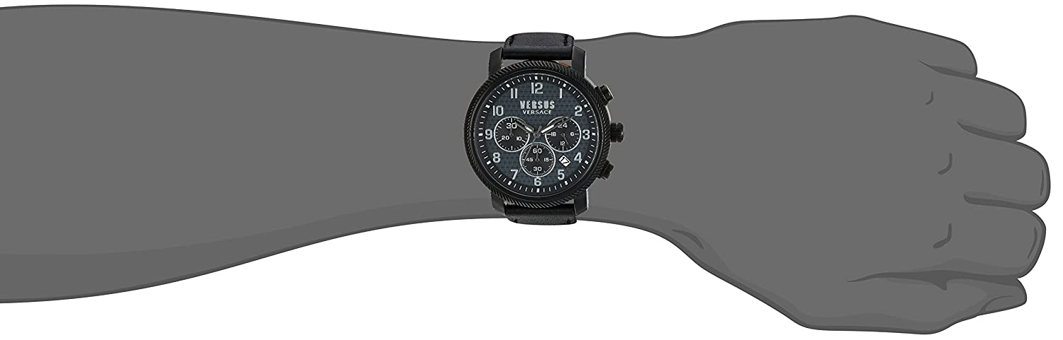 a45ea65b8e86 Buy Versus Versace Hoxton Square Analog Black Dial Men s Watch - S70010016  Online at Low Prices in India - Amazon.in