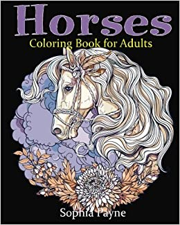 Amazon.com: Horses Coloring Book for Adults (9781539945727): horses ...