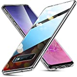 ESR Galaxy S10 ケース ガラスケース強化ガラス TPUバンパー ギャラクシーS10 ガバー【9H硬度加工 薄型 全透明 指紋防止 安心保護 耐衝撃 ワイヤレス充電対応】Samgsung Galaxy S10 専用スマホケース(クリア)