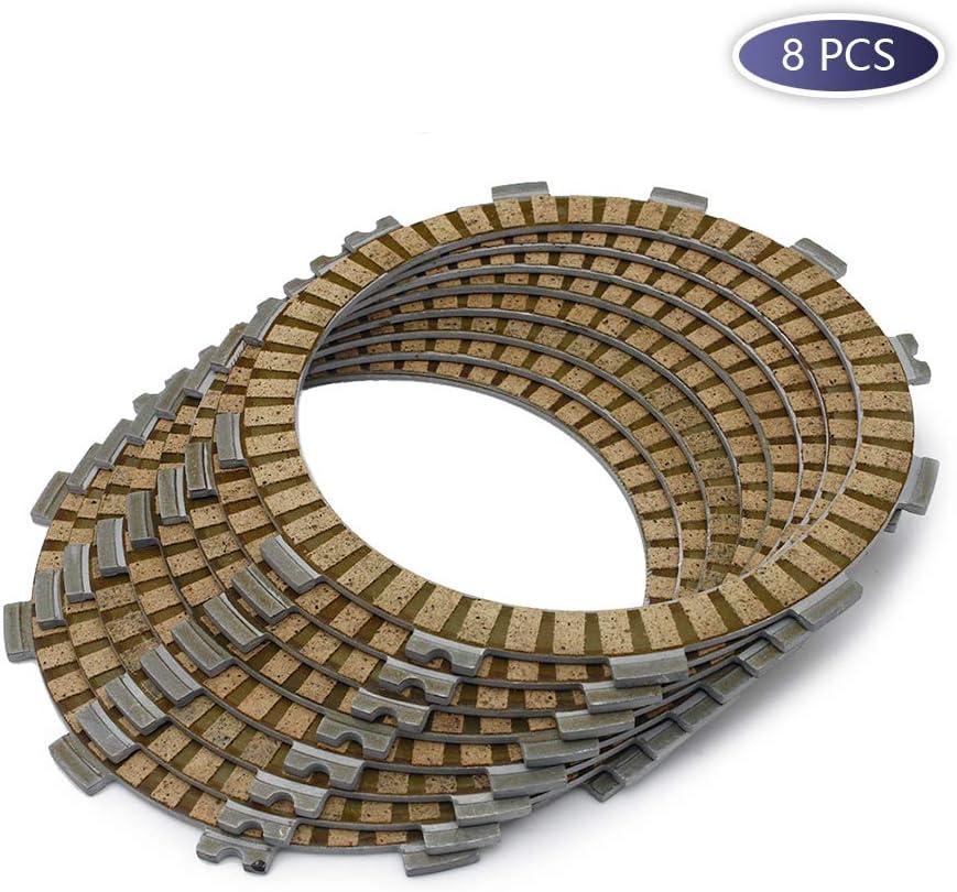 8 PCS Motorcycle Engines Paper-based Clutch Friction Plates Kit for YAMAHA Virago 1100 XV1100 86-99 XV1100S 96-98 XVS1100 XVS-1100 XVS 1100 99-04 XVS1100A 00-05 XVS1100AT 04-09 XVS1100AW 05-09