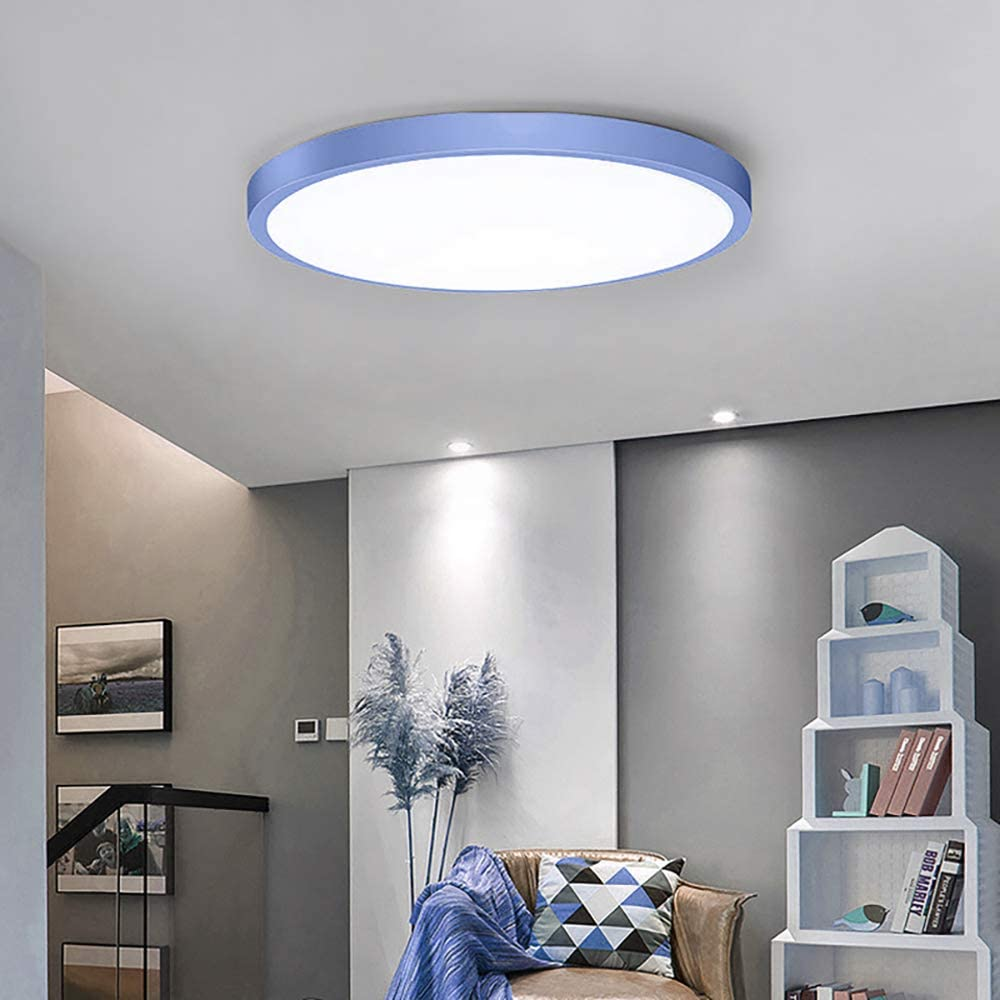 6000K Cool White /Ã/˜ 39cm Round Ceiling Lights Fitting for Bathroom Bedroom Kitchen Hallway Office Stairwell Dining Room Indoor Flush Mount Ceiling Lamp TiooDre 30W LED Ceiling Lights