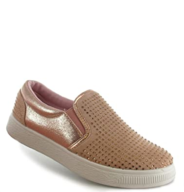 Womens Ladies Glitter Canvas Size 3 4 5 6 7 8 Slip on Casuals Low Top  Trainers  Amazon.co.uk  Shoes   Bags ad04b7871