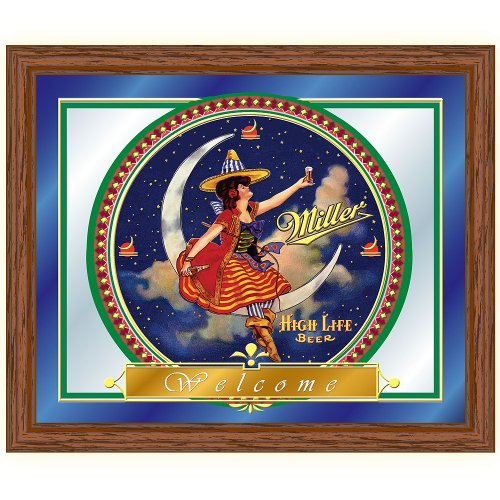 "Miller High Life ""Girl in the Moon"" Framed Logo Mirror"