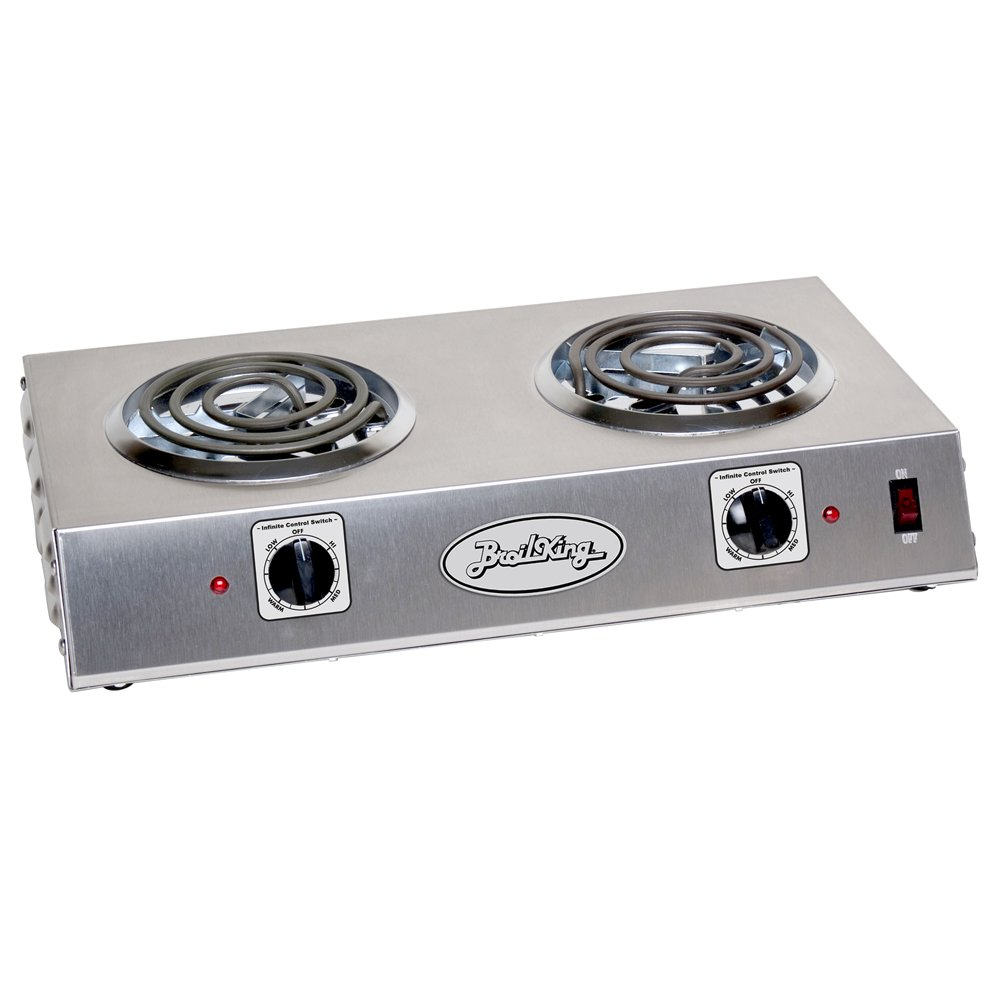 Broil King CDR-1TB Professional Double Hot Plate, 21-1/4-Inch by 4-1/8-Inch by 12-1/4-Inch, Grey