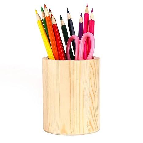 Amazon.com: Soporte para bolígrafos, de madera maciza ...