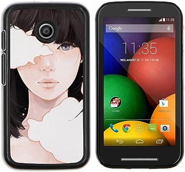 GIFT CHOICE / Teléfono Estuche protector Duro Cáscara Funda Cubierta Caso / Hard Case for Motorola Moto E // Significado Profundo Chica Negro Emo Hair //: Amazon.es: Electrónica