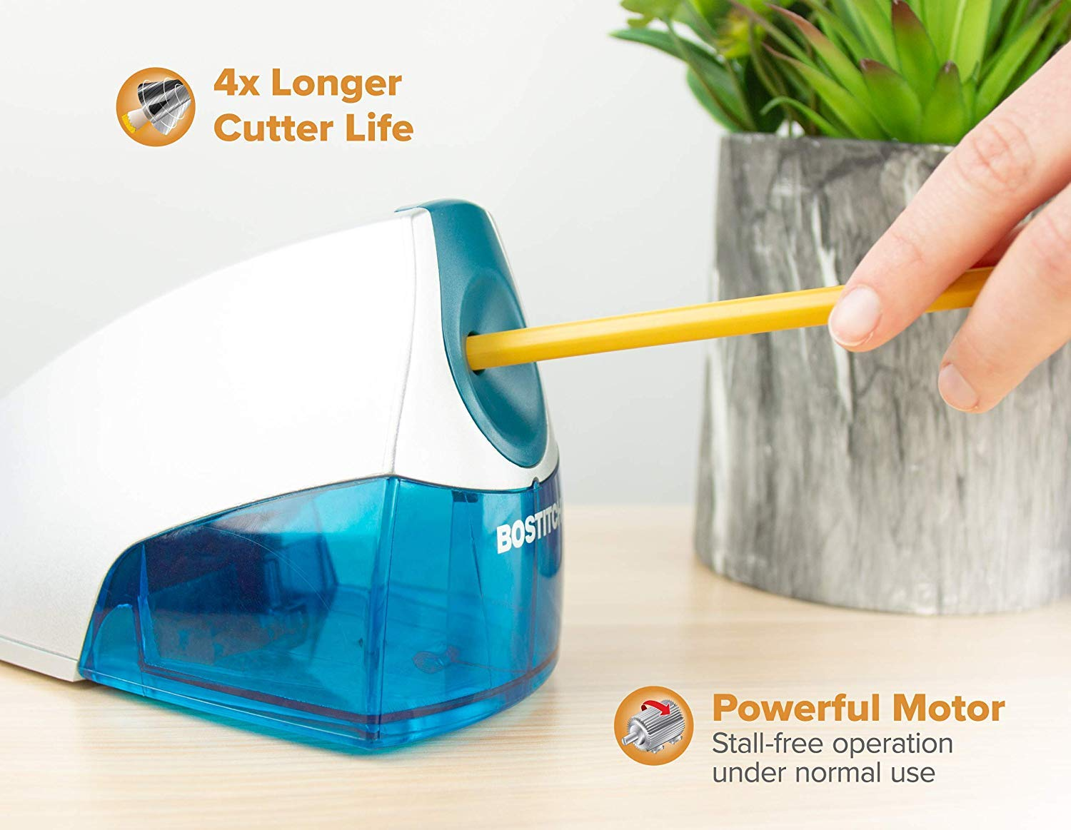 Bostitch Personal Electric Pencil Sharpener, Blue (EPS4-BLUE) - 5 Pack by Bostitch Office (Image #2)
