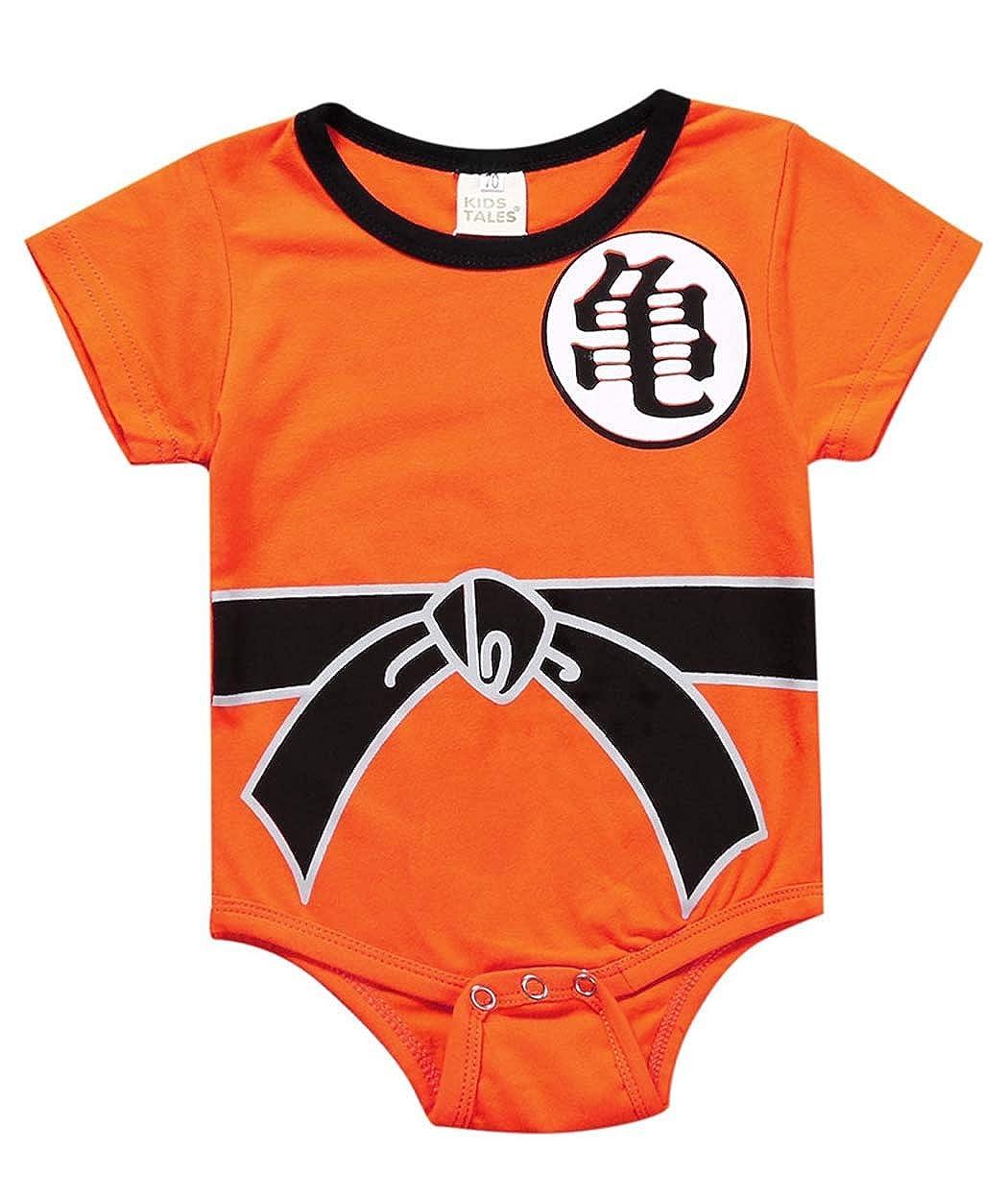 Askong Baby Jungen Halloween Cosplay Dragon Ball Z Son Goku Kurzarm Strampler Kleidung f/ür 3 Monate 3 Jahre