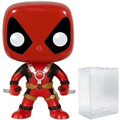 Funko Pop! Marvel Heroes: Deadpool with Two Swords #111 Vinyl Figure (Bundled with Pop Box Protector Case): Toys & Games [5Bkhe0501319]