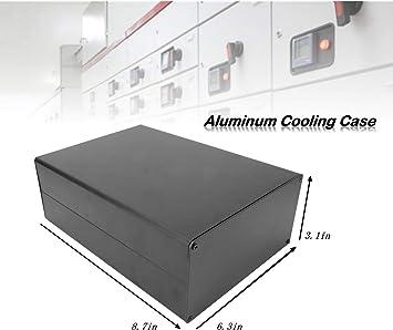 Caja de enfriamiento de aluminio,80x160x220 mm Tipo dividido Caja ...