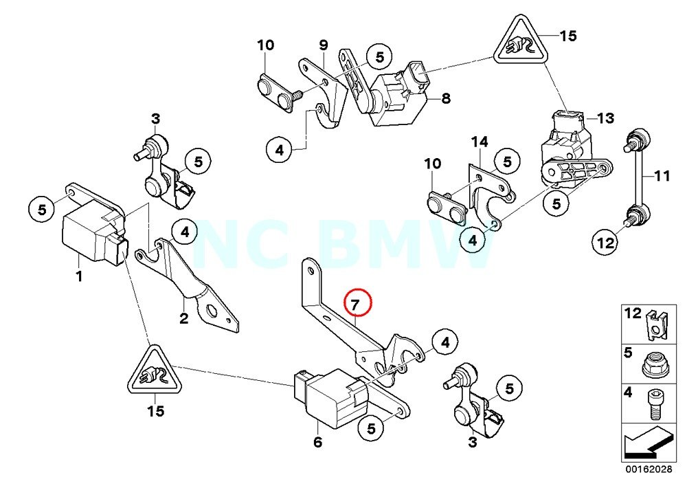 amazon bmw genuine left ride height sensor bracket automotive 2014 BMW X5 Interior Dimensions