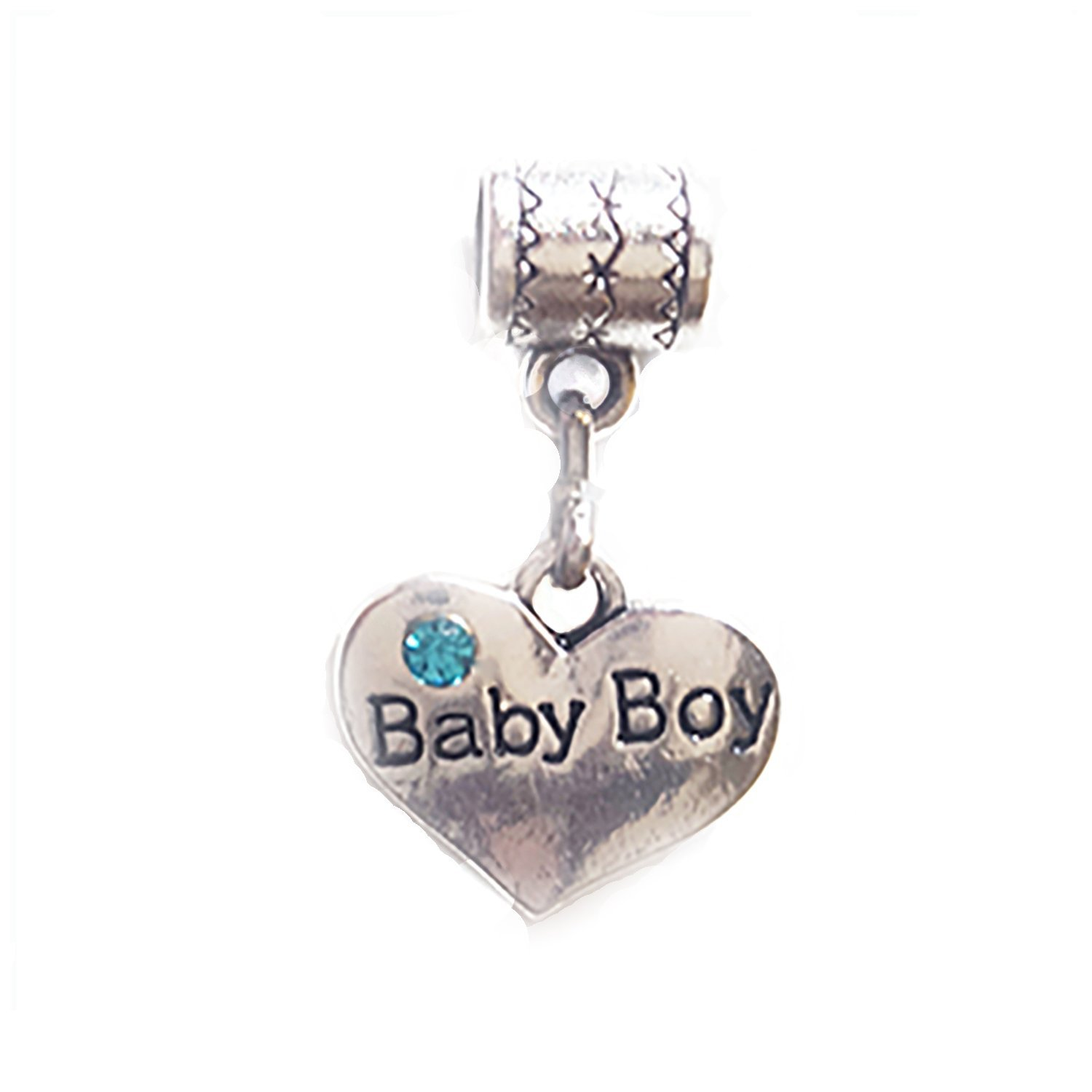 Tibetan Alloy Pendant ALWAYS IN MY HEART Charm Double sided Heart Antique Silver