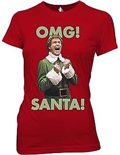 af17ed0f8 Amazon.com: Ripple Junction Elf Santa's Coming Junior's T-Shirt ...