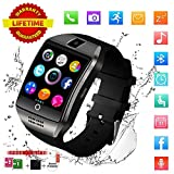 Smart Watch,Bluetooth Smart Watch for Andriod phones, iphone Smartwatch with Camera,Waterpfoof Smart watches,Watch Phone Touchscreen for Android Samsung IOS Iphone X 8 7 6 5 Plus Men Women Youth