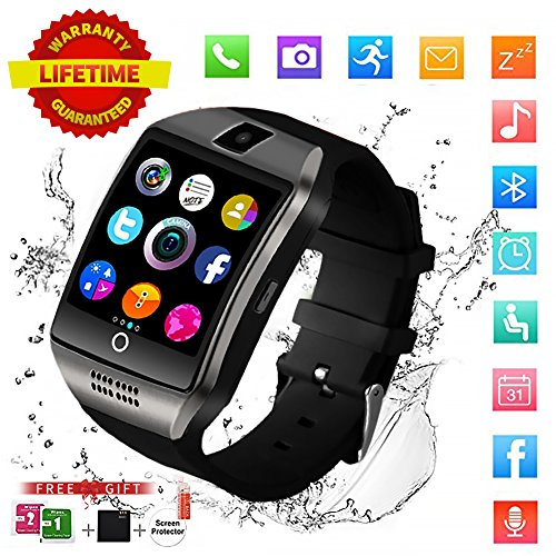 Smart Watch,Bluetooth Smart Watch for Andriod phones, iphone Smartwatch with Camera,Waterpfoof Smart watches,Watch Phone Touchscreen for Android Samsung IOS Iphone X 8 7 6 5 Plus Men Women Youth by Newatch