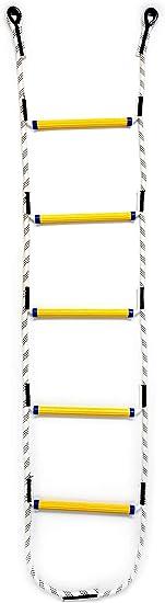 Aoneky Escalera de Cuerda de Escalada para Niños Adultos - Longitud de 1,8M/2,1M/2,4M, Carga de 450kg, Juguete de Escalar para Parque Infantil Jardín, Cuerda de Nylon, Peldaños de Resina (2,1M): Amazon.es: Juguetes