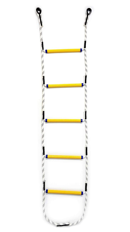 Aoneky Kinder Strickleiter Kletterger/üst /& Kletternetz /& Ketterwand-Seil Kletterwand Leiter Kletterturm wei/ß gelb 1.8m