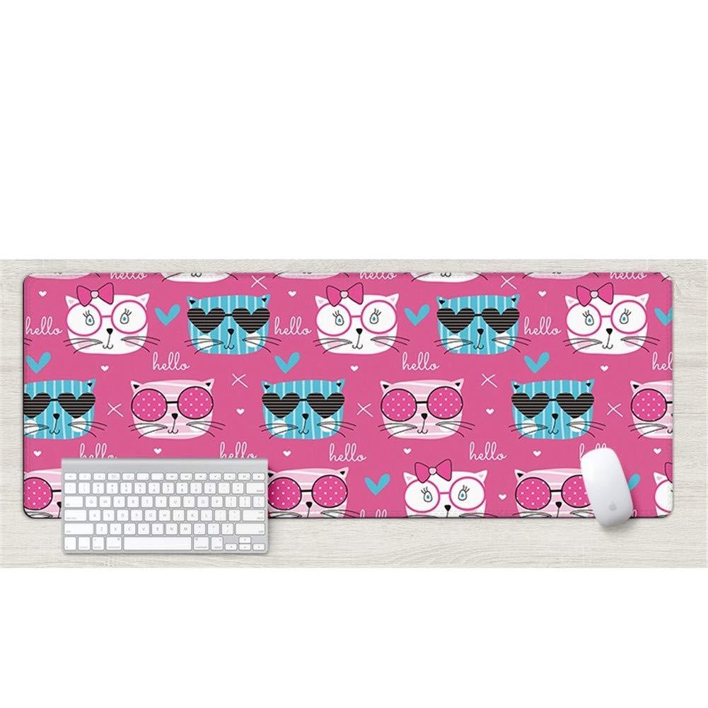 Tappetino per mouse pad per Lnzigk Tappetino per pad mouse oversize carino ragazza cartone animato ispessimento tappetino per tastiera, occhiali Cool Cat 1a1f79
